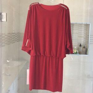 Striking red dress by Cache sz M